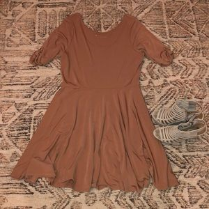 Express scoop back dress